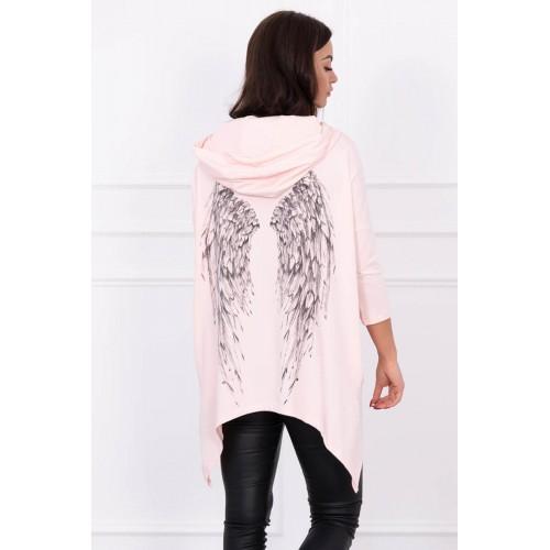 Laisvo stiliaus palaidinė su sparnais