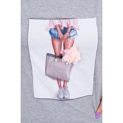 Marškinėliai GIRL WITH THE BAG