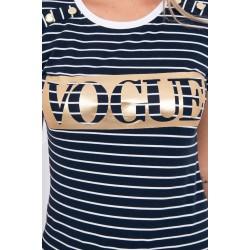 Dryžuoti marškinėliai VOGUE
