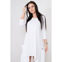 Asimetriška suknelė su kišenėmis